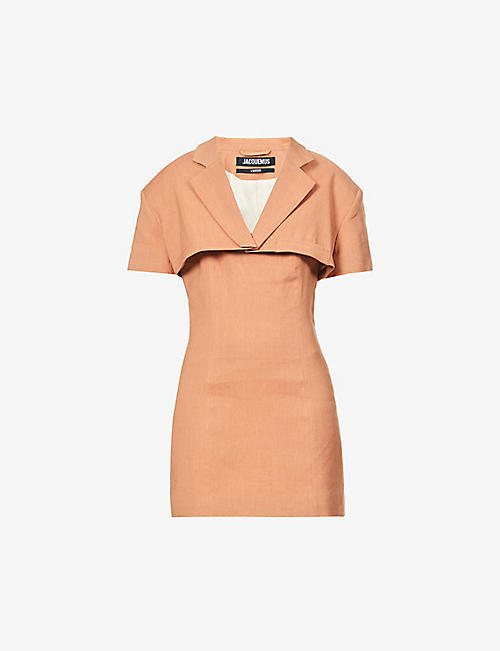 JACQUEMUS: La robe Gardian woven mini dress
