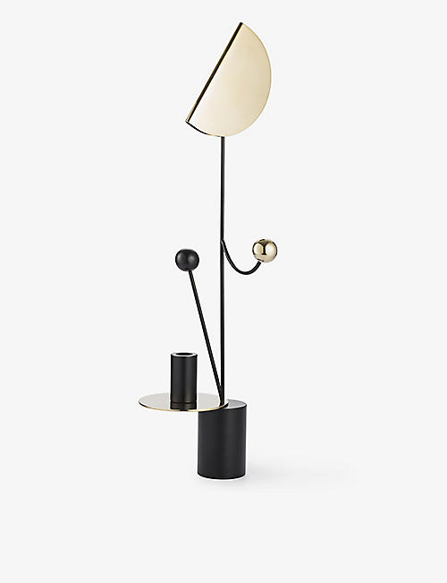 MAISON DADA: Les Immobiles N°2 powder-coated metal candle holder 60cm