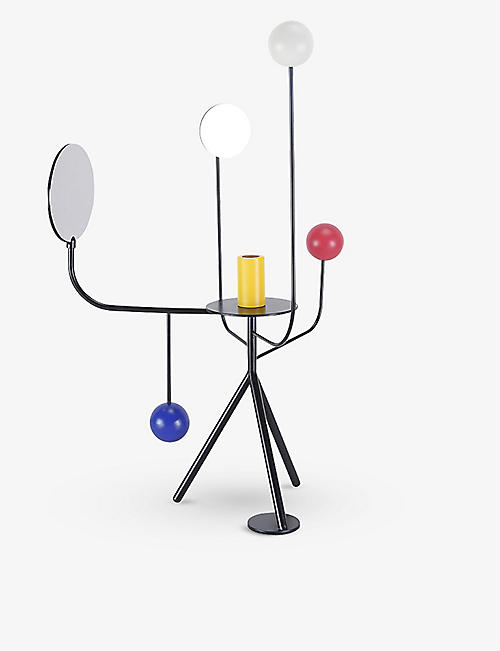MAISON DADA: Les Immobiles N°4 powder-coated metal candleholder 61cm