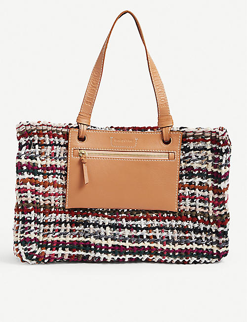 SEE BY CHLOE: Cecilya cotton-blend tote bag