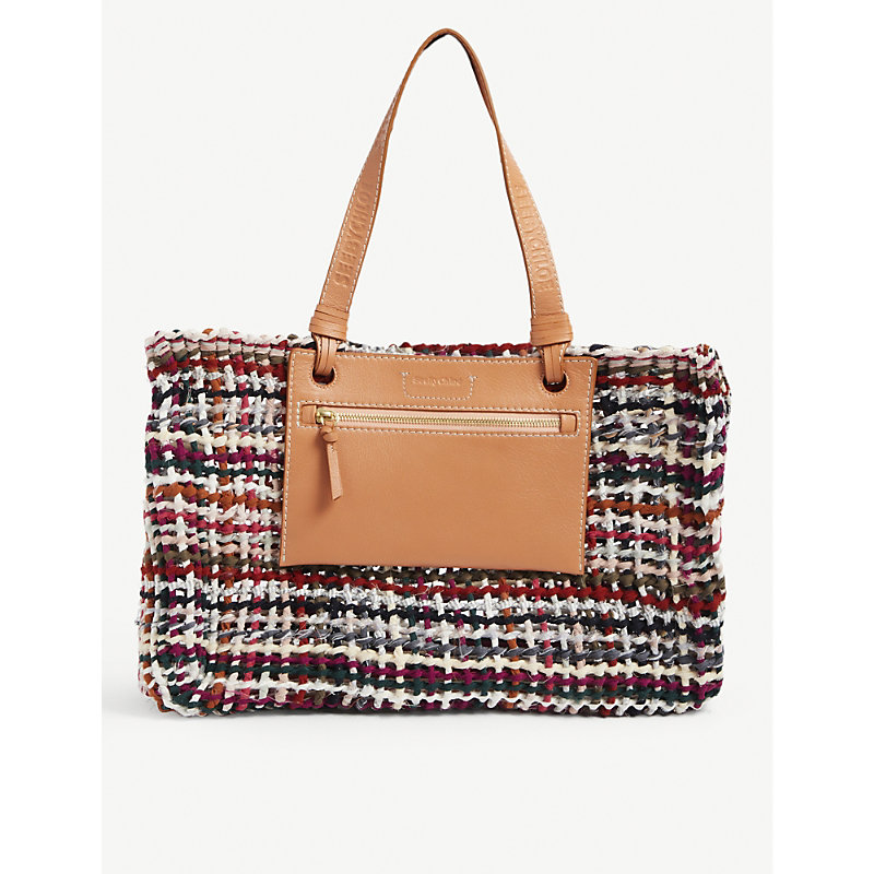 See By Chloé Leathers CECILYA COTTON-BLEND TOTE BAG