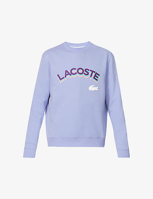 LACOSTE: Relaxed-fit logo-branded cotton-blend sweatshirt