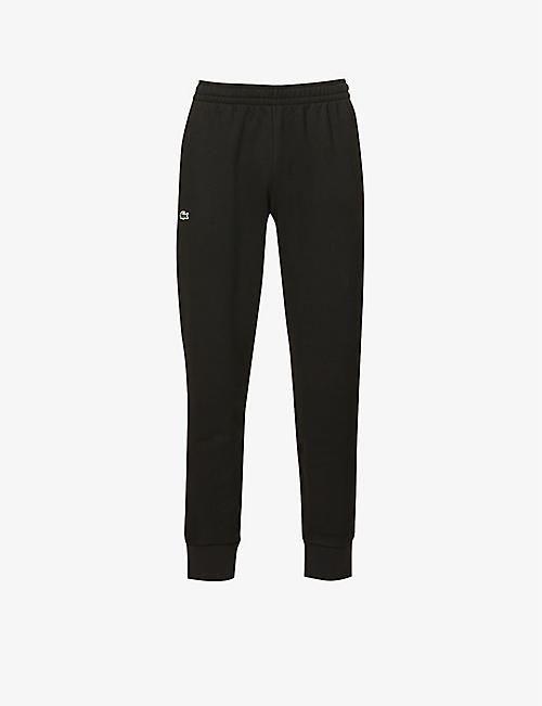 LACOSTE: Logo-embroidered cotton-jersey jogging bottoms