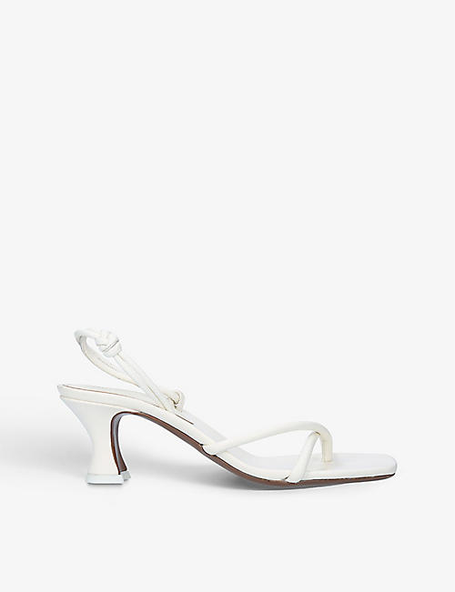NEOUS: Borealise sling-back heeled leather sandals