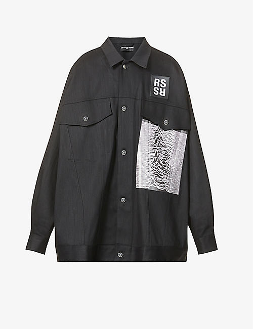 RAF SIMONS: Raf Simons Archive Redux Patch cotton-blend denim jacket
