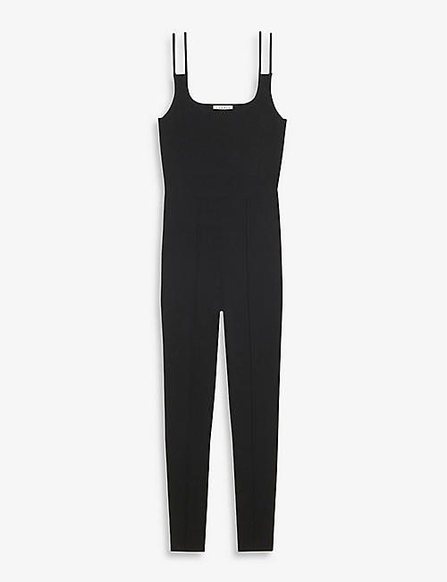 SANDRO: Sissy skinny-fit knitted jumpsuit