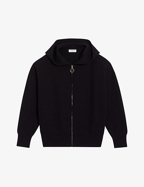 SANDRO: Capri logo-embroidered cotton-blend hoody