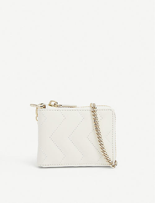SANDRO: YZA quilted leather purse