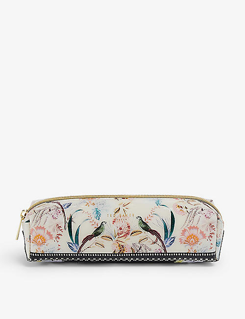 TED BAKER: Decadence floral-print vinyl brush case