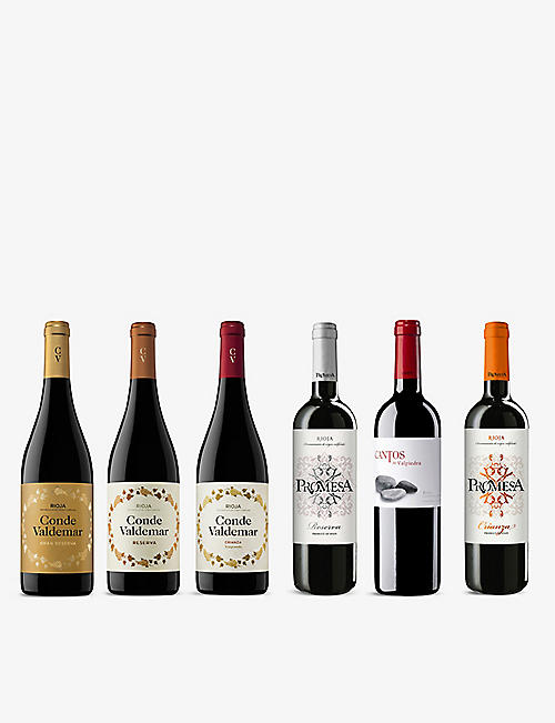 WINE CASE: Rioja Reds mixed case 6x750ml