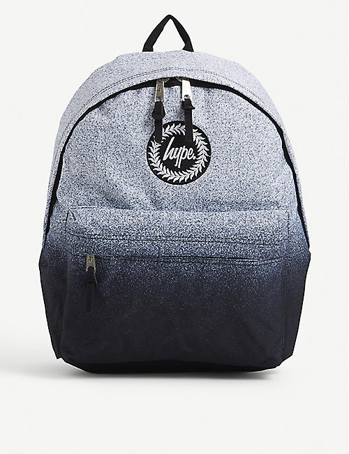 HYPE: Speckle graphic-print woven backpack