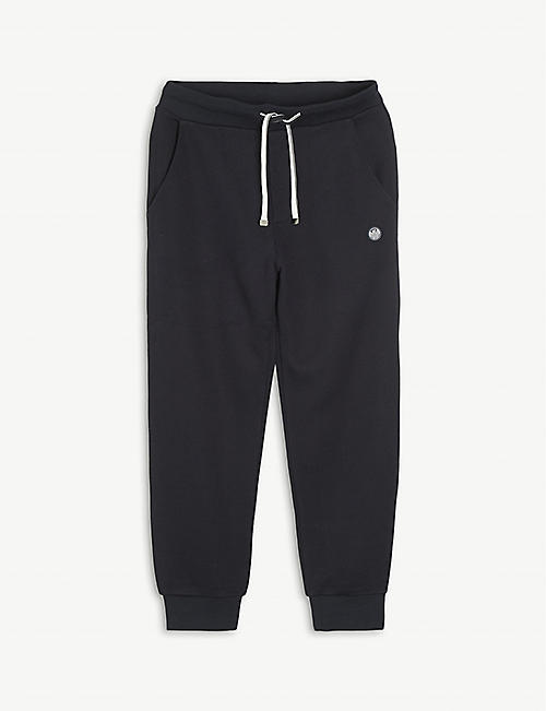EMPORIO ARMANI: Logo-embroidered cotton-blend jogging bottoms 4-16 years