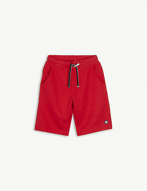 EMPORIO ARMANI: Logo-embroidered cotton-blend shorts 4-16 years