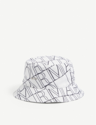 Emporio Armani Kids Logo Embroidered Material Bucket Hat Selfridges Com