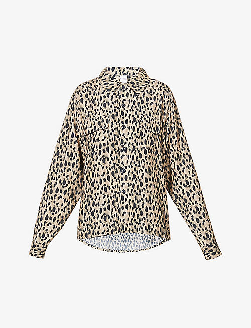 RE/DONE: Leopard print woven shirt