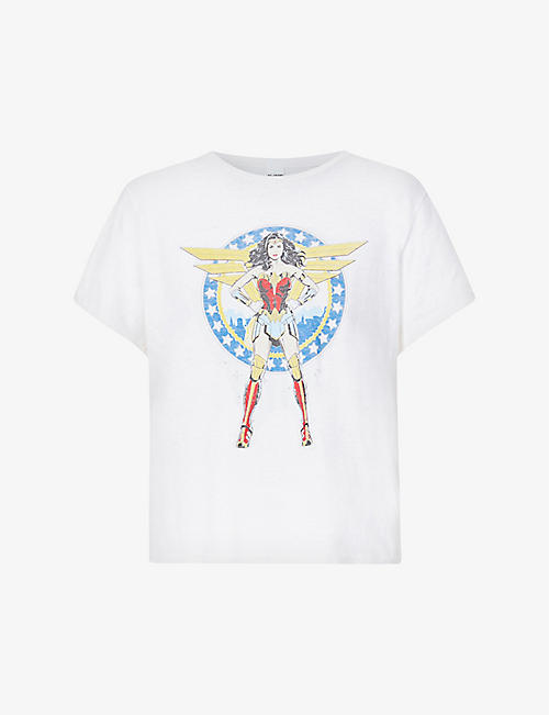 RE/DONE: RE/DONE x Wonder Woman 1984 graphic-print cotton-jersey T-shirt