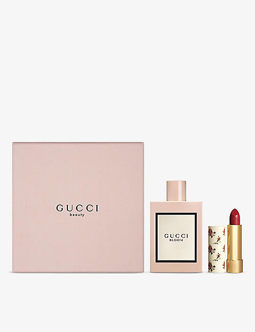 GUCCI: Bloom eau de parfum and lipstick gift set
