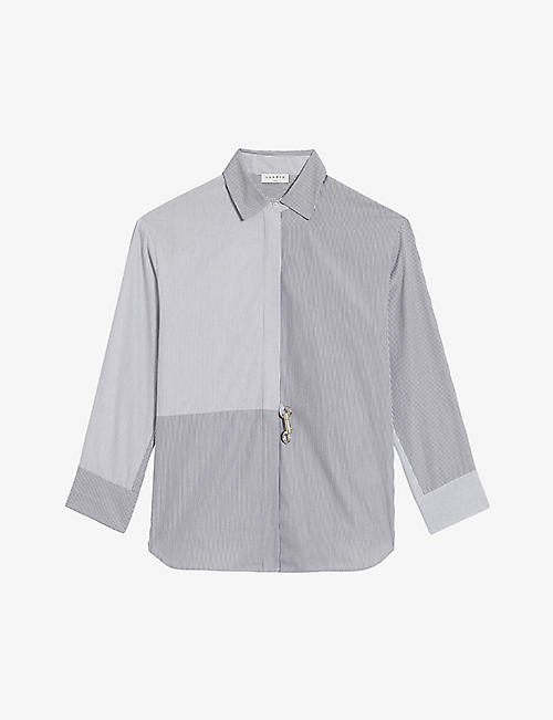 SANDRO: Maddly striped cotton shirt