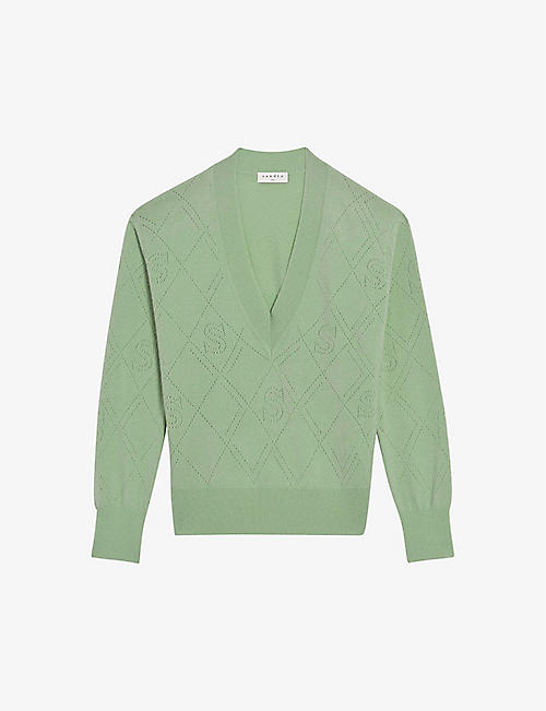 SANDRO: Joseph wool and cashmere-blend jumper