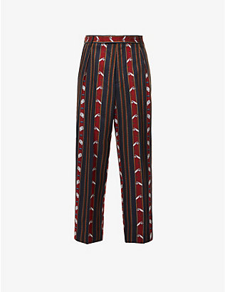 VIVIENNE WESTWOOD: Chaplin slim-fit tapered crepe trousers