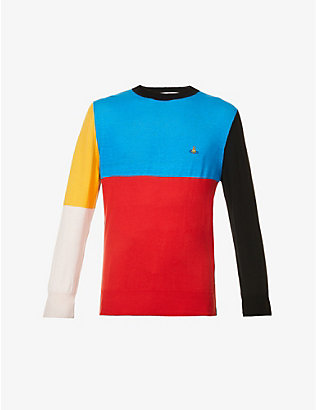 VIVIENNE WESTWOOD: Chris colour-blocked cotton and linen-blend jumper