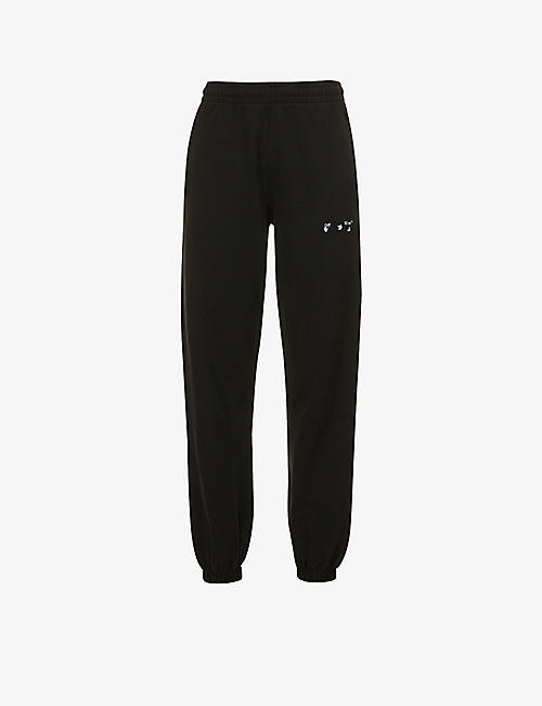 OFF-WHITE C/O VIRGIL ABLOH: Logo-print slim-leg cotton-jersey jogging bottoms