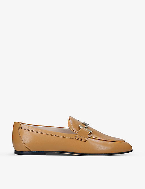 TODS: Doppia leather loafers