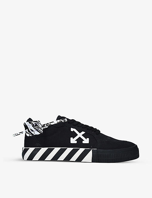 OFF-WHITE C/O VIRGIL ABLOH: Vulcanized cotton-canvas low-top trainers