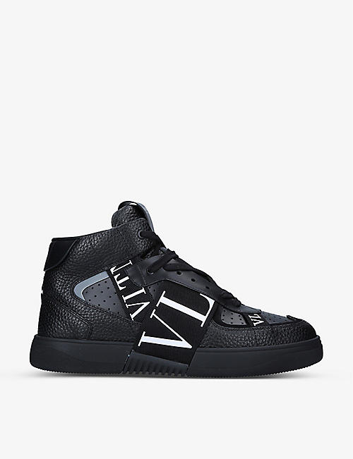 VALENTINO GARAVANI: VL7N logo-embellished leather mid-top trainers