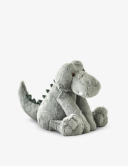 THE LITTLE WHITE COMPANY: Crackles Crocodile medium soft toy 25cm