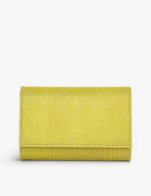 LK BENNETT: Danni suede envelope clutch bag