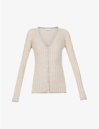 GABRIELA HEARST: Homer V-neck cashmere and silk-blend cardigan