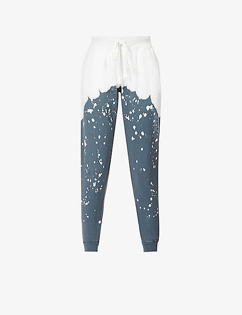 LA DETRESSE: Acid Wash cotton-blend jogging bottoms