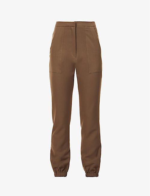 PREVU: San slim-fit tapered-leg stretch-woven jogging bottoms