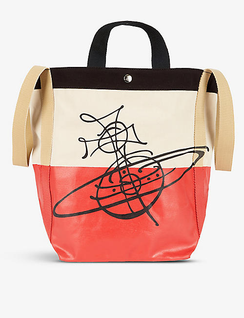 VIVIENNE WESTWOOD: Worker Runner branded cotton-canvas holdall