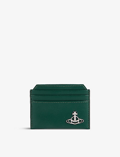 VIVIENNE WESTWOOD: Kent orb-embellished grained-leather cardholder