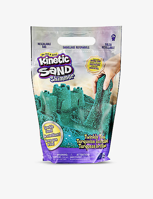 KINETIC SAND: Shimmer Sand twinkly teal 907g