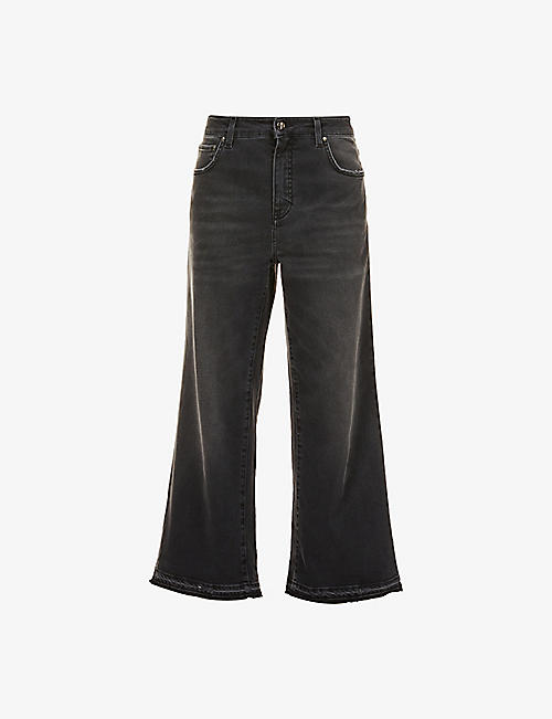 ME AND EM: Wide-leg mid-rise jeans