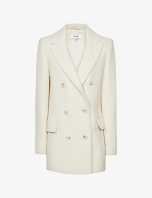 REISS: Wiles double-breasted wool-blend coat