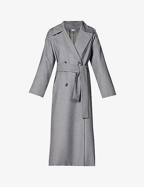 MUSIER PARIS: Tiffany double-breasted woven coat