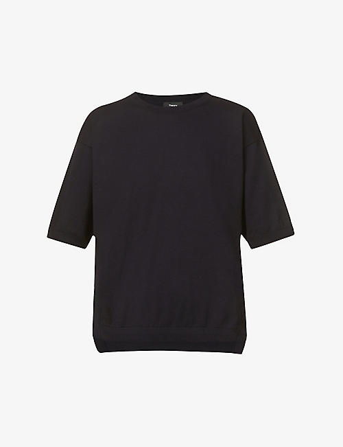 THEORY: Hudson stretch-cotton knitted T-shirt