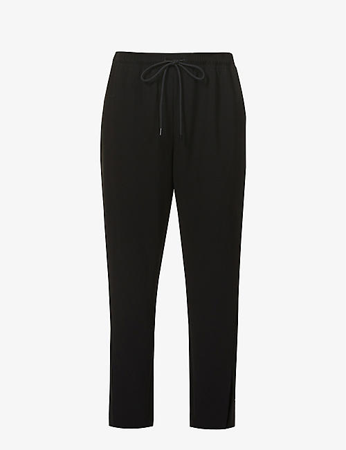THEORY: Tapered-leg mid-rise woven trousers