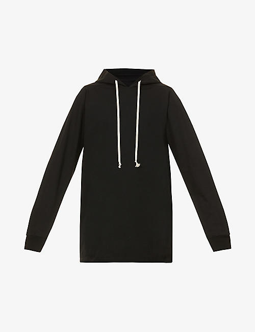 RICK OWENS: Relaxed-fit cotton-jersey drawstring hoody