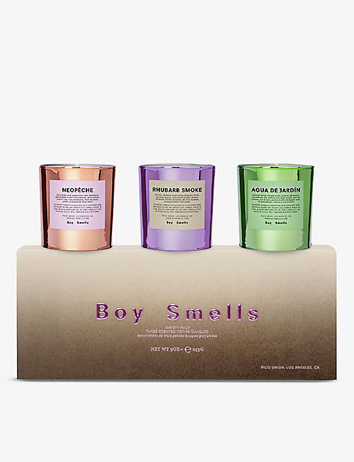 BOY SMELLS: Hypernature votive scented candles trio 255g