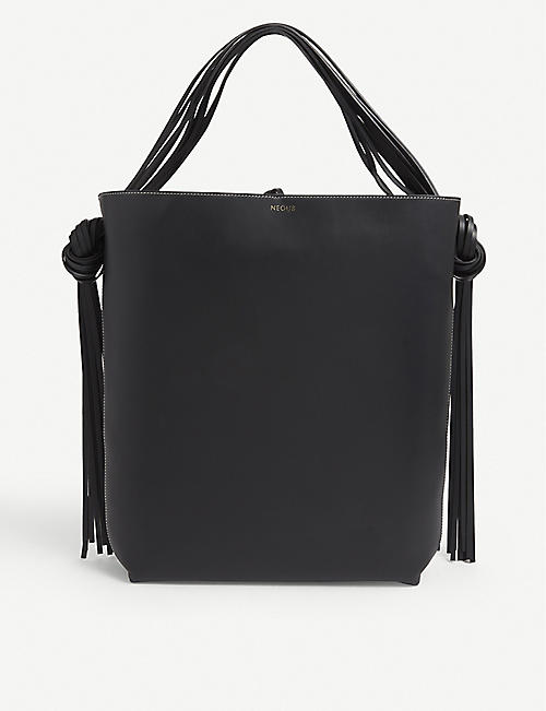 NEOUS: Saturn leather shoulder bag