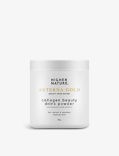 HIGHER NATURE: Aeterna Gold Collagen Beauty Drink Powder 80g