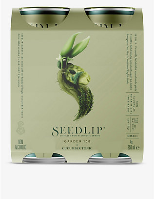 SEEDLIP: Seedlip Garden 108 cucumber tonic 4x250ml