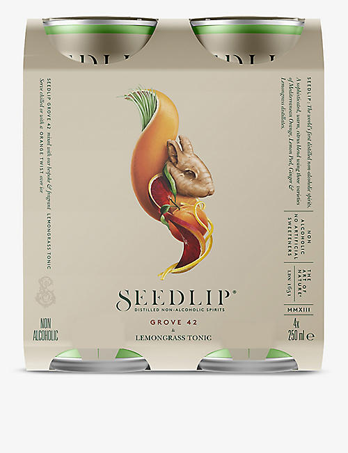 SEEDLIP: Seedlip Grove 42 lemongrass tonic 4x250ml