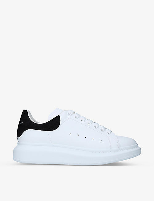 ALEXANDER MCQUEEN: Men's Show crocodile-embossed suede and leather trainers