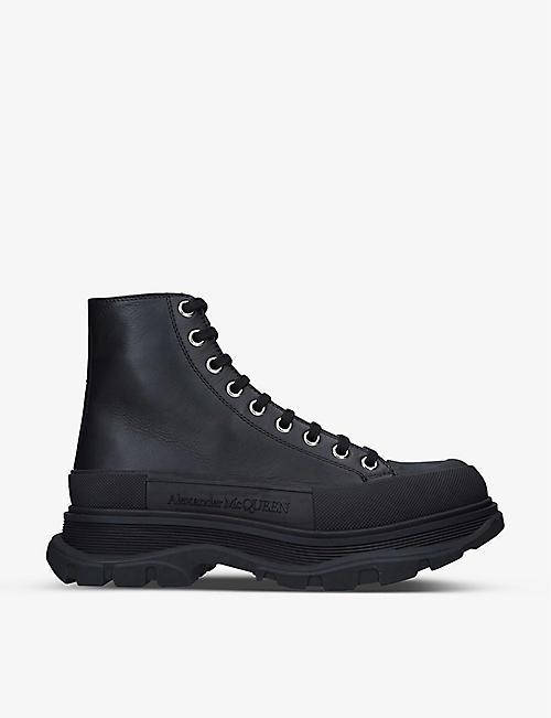 ALEXANDER MCQUEEN: Tread Slick leather boots